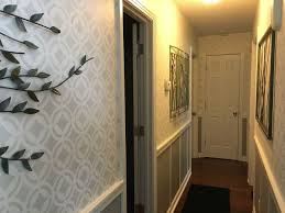 hallway finally. stenciled hallway finally finished wall decor t