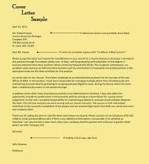 Entry Level Administrative Assistant Cover Letters Administrative Assistant Cover Letter Examples 10 Formats
