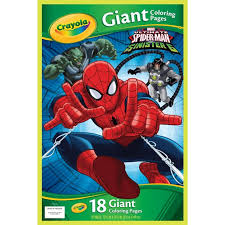 My custom spiderman color drawing. Crayola Giant Coloring Pages Featuring Spiderman 18 Pages Walmart Com Walmart Com