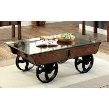 furniture of america charlotte rustic glass top coffee table free regarding for prepare 18