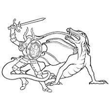 dragon pictures to color. Simple Dragon Dragon And The Knight Fighting Image To Color For Pictures To G