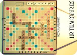 Upcycled Wall Art Upcycled Diy Scrabble Wall Art For The Craft Room Office Clever