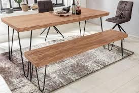 Esszimmer Sitzbank Bagli Massiv Holz Akazie 120 X 45 X 40 Cm Holz Bank Natur Produkt Küchenbank Im Landhaus Stil
