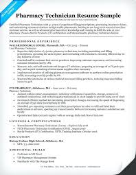 Pharmacy Technician Resume Extraordinary 40pharmacy Technician Resume Objectives Lettering Site