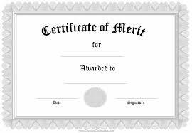Merit Award Certificate Template Narcopenantlyprintable Merit