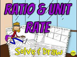ratios unit rates solve draw activity
