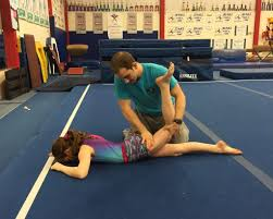 floor gymnastics splits. The Desired Split Position. It Could Be A Boney Issue, Muscular  Stiffness, Strength Limitation, Technique Or Combination Of Few Factors. Floor Gymnastics Splits