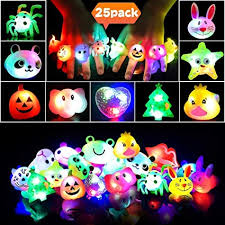 LEEHUR Light Up Led Birthday Party Favors Rings for ... - Amazon.com