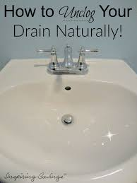 how to unclog your drain naturally 2