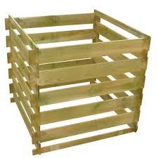 Holz Komposter Kompostbehälter Holzlatten Quadratisch 054 M3