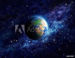 Fotografie Obraz Planeta Země Ve Vesmíru Posterscz