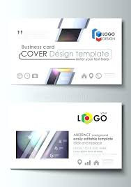 Product Line Card Template Vector Modern Creative And Clean Business Card Template Flat Design