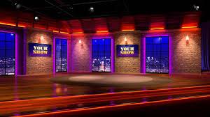 Tv Talk Show Stage Design Virtual Talk Show Studio Set Virtualstudiosets Com