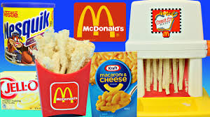 fast food maker weird mcdonalds food happy meal magic french fry maker toy gross