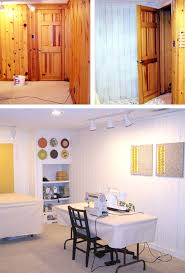 paint knotty pine or tongue and groove wall panelling or ceiling