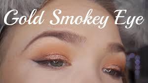 chatty simple gold smokey eye tutorial makeup junkie g