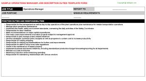 manager job descriptionoperations manager job description
