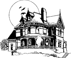 Small Picture Halloween Color Haunted House Coloring Home