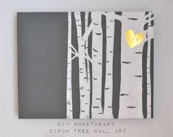 diy tree birch wall art made in a day sweerheart grey gold simple painting canvas adorable on birch tree branch wall art with wall art birch wall art gallery collection white birch tree wall