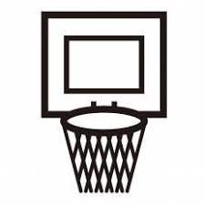 バスケットゴールシルエット イラストの無料ダウンロードサイト