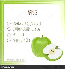 apples nutrition facts flat design no grant vector il stock vector