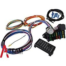 amazon com ez wiring 21 standard color wiring harness automotive speedway universal 20 circuit wiring harness a team performance 12 circuit universal wire harness muscle car hot rod street rod new xl wires