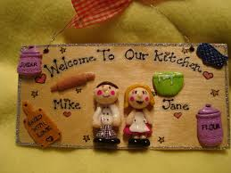 New Kitchen Gift 3d Personalised 2 Character Kitchen Sign Plaque Any Phrasing Ideal
