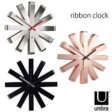umbra ambra ribbon clock ribbon clock wall clock fashionable scandinavian designer design furniture gifts gift is remended
