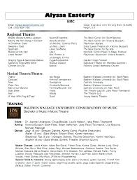 Musical Theater Resume Template Adorable Theatrical Resume Template Word Awesome Resume Templates Word