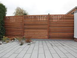 Horizontal Wood Fence Designs Ed Cedar Customer Modern Vinyl