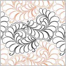 Curly Feathers quilting pantograph pattern by Jessica Shick ... & Curly Feathers quilting pantograph pattern by Jessica Shick Adamdwight.com