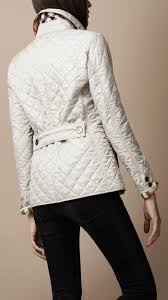 Lyst - Burberry brit Cinched Waist Quilted Jacket in Natural & Be Inspired Adamdwight.com