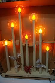 Best Christmas Candle Lights Windows Vintage Noma Christmas Lights Halo Candolier Rare 7 Light