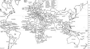 World Map Coloring Page World Wide Maps
