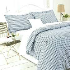 blue striped quilt duvet cover bedding set single double king black or stripe white