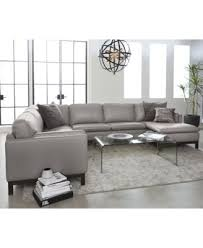 Furniture Ventroso 4 Pc Leather Chaise Sectional Sofa Created for