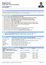 Oracle Pl Sql Developer Resume Sample Resume of Sugavanan Oracle Apps Technical Consultant 45