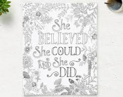 Printable Coloring Sheets For Adults Quotes About Strengths