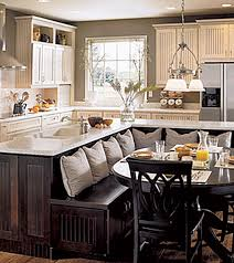 Small Picture Kitchen with built in seating area L shaped island Love love
