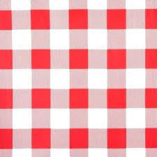 red vinyl tablecloth gingham round plastic pink