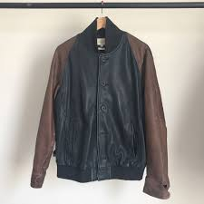 details about levi strauss co made and crafted leather stadium jacket ma1 big e lvc levis 3