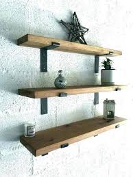 thick wood floating shelves thick wood floating shelves thick wood floating shelves oak light wall