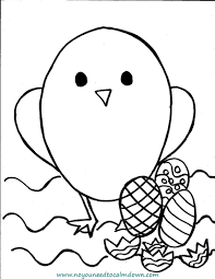 Easter Chick Coloring Pages Wumingme