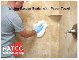 cleaning travertine tile shower sealing tile how to clean travertine tile shower floor how to clean