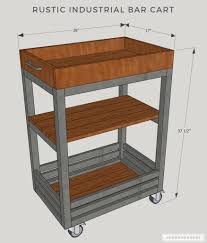 diy rustic bar. Delighful Rustic A Decorative Purpose Here But They Add Nice Industrial Touch To  This Rustic Bar Cart I Spray Painted The Angles Black Match Cart Base Inside Diy Rustic Bar E
