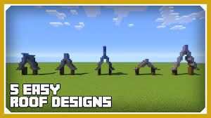 Cool Minecraft Roof Designs Minecraft How To Build A Roof Design Tutorial Easy Survival Minecraft