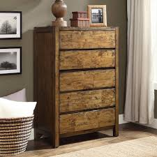 farmhouse solid wood storage chest of 5 drawers dresser bedroom furniture new