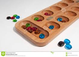 Game With Stones And Wooden Board Mancala board game stock image Image of count sowing 100 1