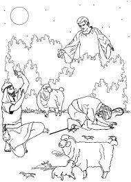 Kids N Fun Kleurplaat Bijbel Kerstverhaal De Engel Spreekt De