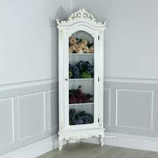 corner curio cabinets with glass doors cabinet white short s used for solid wood lighted corner curio cabinets with glass